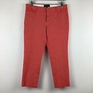 Banana Republic Sloan Cropped Pattern Pant in Red